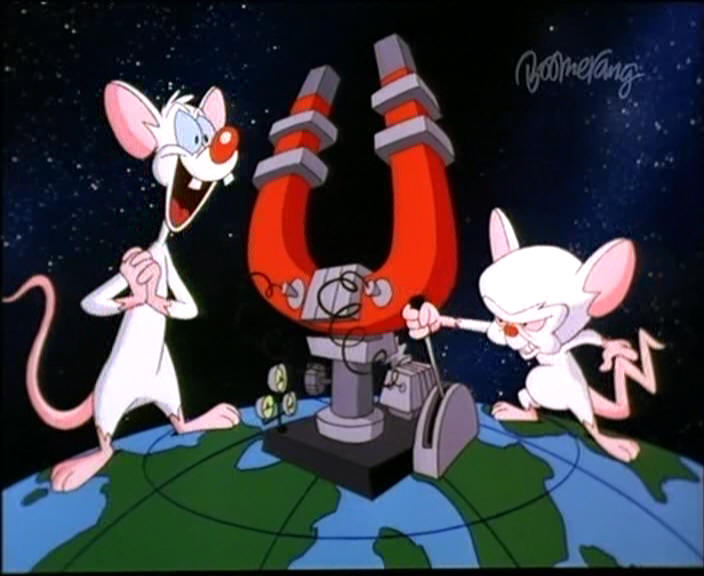 pinky and brain. THE MAZE